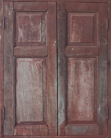 Brown classic Asian style wood windows. Stock Photo - 17011118