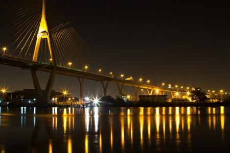 Bridge industry. Bangkok at night. Stock Photo - 17710293