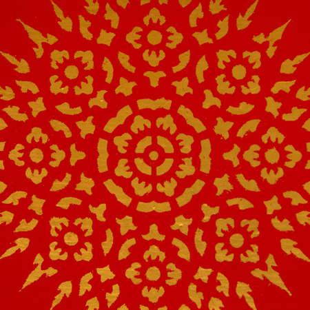 thai motifs: Thai motifs drawing of Thai style pattern Stock Photo