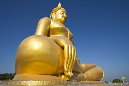 The Big Buddha in thailand temple. photo