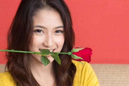 Beautiful Fashion Girl with Roses Stock Photo - 18815607
