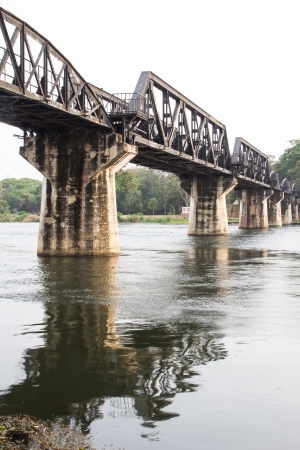 the death railway bridge over river kwai in Kanchanaburi Thailand photo