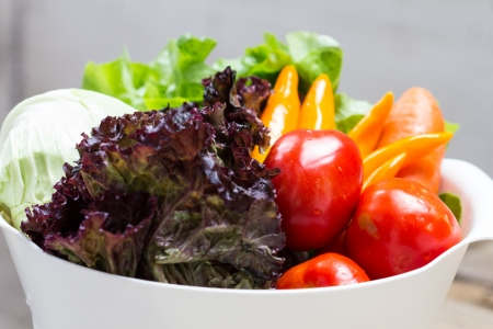 Organic Vegetables. Bio Vegetable. Healthy Vegan Food Stock Photo