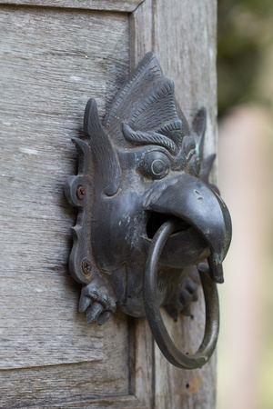 old Chinese style door handle photo