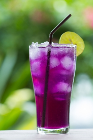 Butterfly pea juice for drink Stock Photo