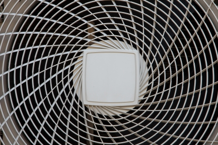 The outdoor unit heat pump, air to air Imagens