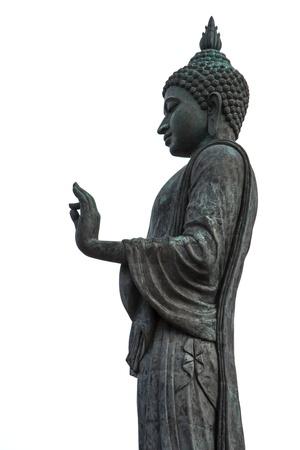 revere: Buddha statue on a white background. Stock Photo