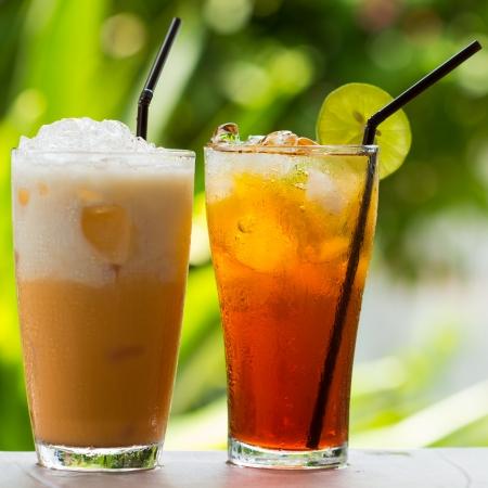 Ice Tea thai Eistee mit Milch und nicht Milch Standard-Bild - 20417454