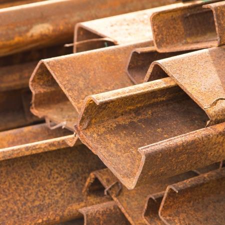 Rust Stahlstange oder Bars im Lager Standard-Bild - 20298094