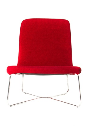 modern red chair isolated on white background photo