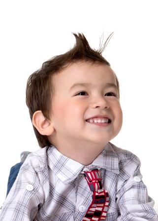 Closeup picture of a cute little boy. Stock Photo