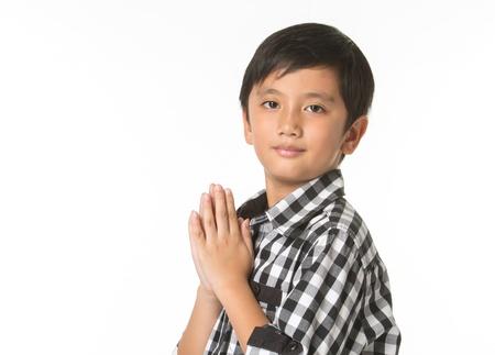 thai boy: Sawasdee , A Thai boy paying respect