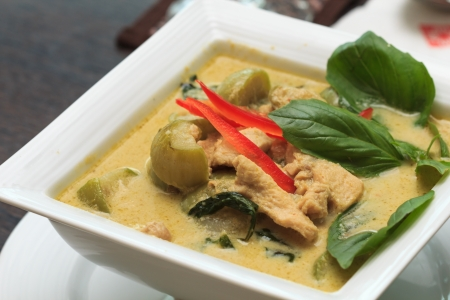 Thailand is a delicious chicken curry. Stock Photo