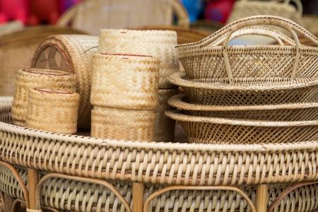 Wicker is made from rattan and bamboo.