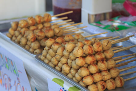 Thai Style grilled Beef Ball with sweet and sour sauce photo