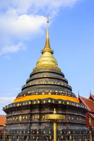 pagoda of Wat Phra That Lampang Luang Located on the northern part of Thailand. photo