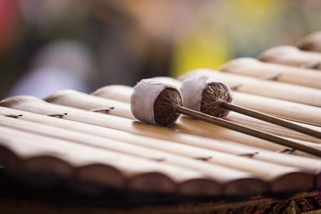 Bat marimba on xylophone