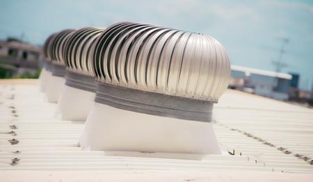 Ventilators on roof