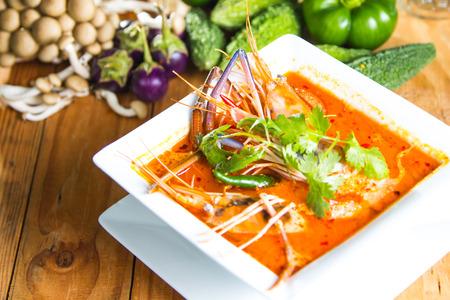 tahi style tom yum soup photo