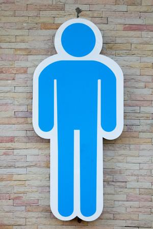 bathroom sign: Mens Symbolize bathroom sign on bathroom