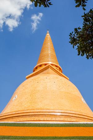 Pagoda name is Phra Pathom Chedi, Nakhon Pathom, Thailand photo
