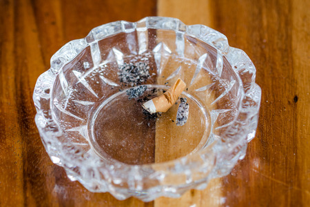 ashtray: close up cigarette in ashtray