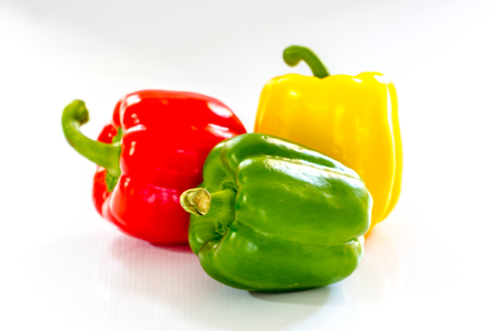 bell pepper: fresh bell pepper on white background