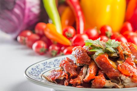close up gebraden eend voor Chinees eten