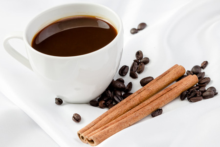 dozen: cup coffee with cinnamon stick in dozen