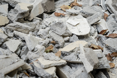 materia: Bricks debris at a building site Stock Photo