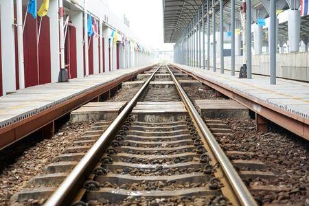 rapid steel: railroad in bangkok, thailand