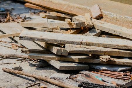 wood pile: Waste wood pile in sunlight