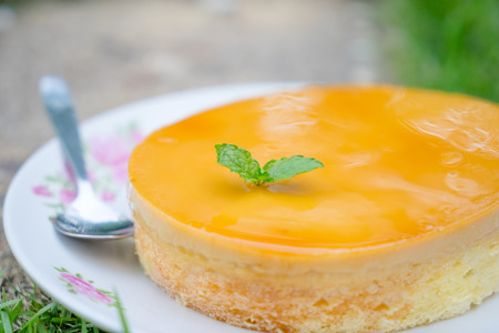 orange cake: orange cake in plate
