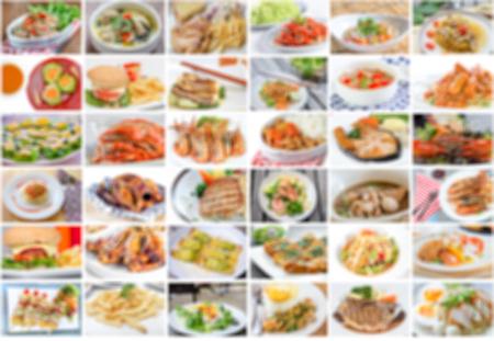 plato de comida: collage de men� de comida asi�tica, americana y china es la falta de definici�n