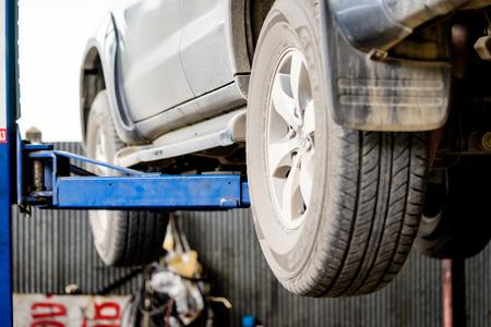 auto repair: car in auto repair service. Editorial