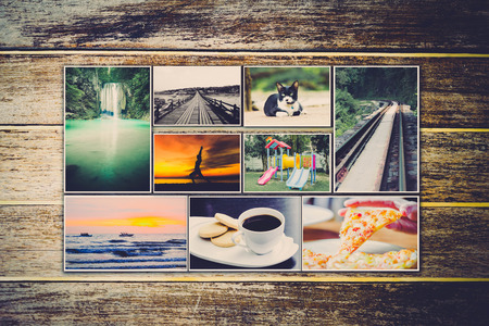 evoking: Collage of photos of a lifestyle