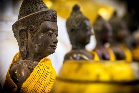 krung: Ancient buddha statue in Thailand