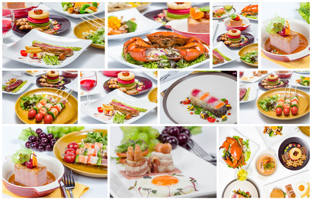 collage van verschillende heerlijke gerechten