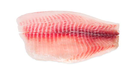 Tilapia fillet isolated on white background