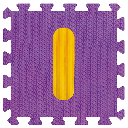 Part of the puzzle letter I Stock Photo