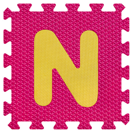 Part of the puzzle letter N Stock Photo