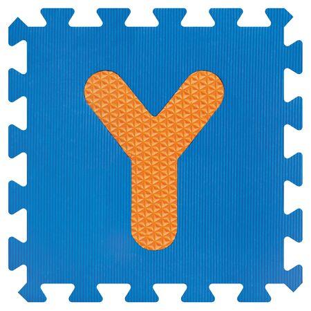 Part of the puzzle letter Y Foto de archivo