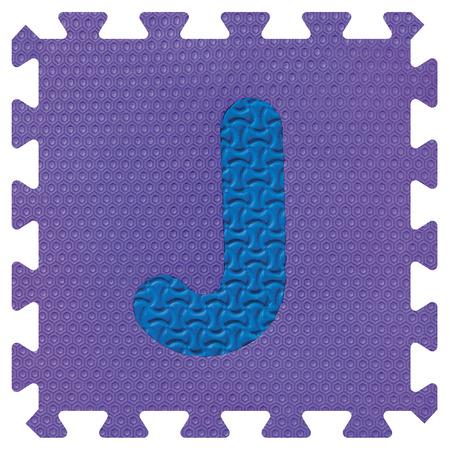 Part of the puzzle letter J