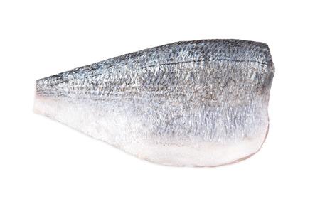 Halbes Dorado Filet ohne Kopf isoliert auf weißem Hintergrund Standard-Bild