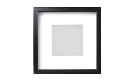 Black square picture frame without shadow isolated on a white background