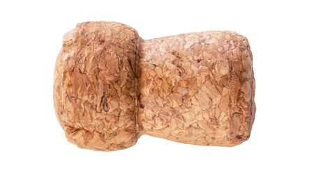Champagne cork isolated on white background Banco de Imagens