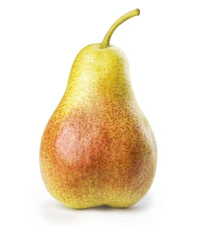 Green and red ripe pear on a wooden isolated on a background Standard-Bild - 150411299