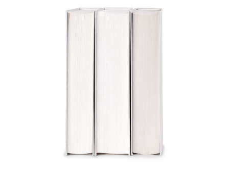 Mockup stack of books isolated on white background