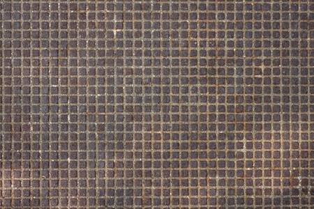 Rusty metal texture background with small embossed squares Stock Photo - 20901013
