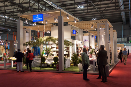 MILAN, ITALY - SEPTEMBER, 12  People visit Macef home international show, point of reference for all those in the sector of interior design and architecture in Milan on September 12, 2013  Stock Photo - 22234598